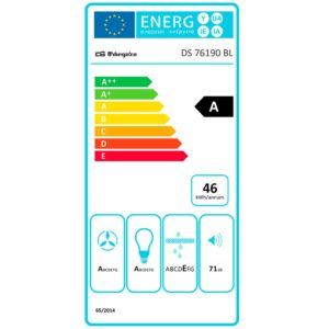 Pegatina consumo electrico campana extractora DS 76190 BL